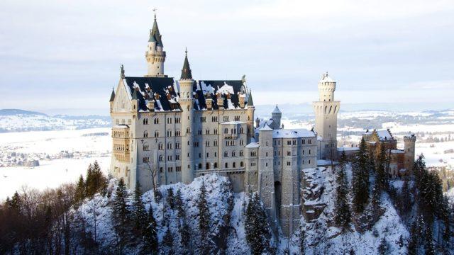 雪国のお城