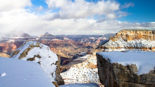 グランドキャニオン雪景色